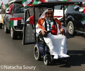 Illustration de l'article Haidar Taleb vient de traverser le désert en fauteuil roulant