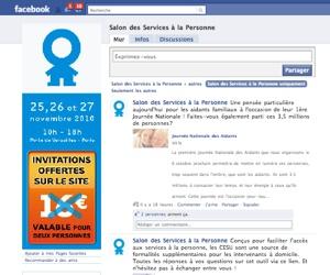 Illustration de l'article Le salon des services à la personne de Paris sur Facebook