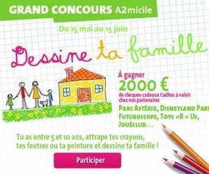 Illustration de l'article Du 15 mai au 15 juin, A2micile lance le grand concours « Dessine ta famille ».