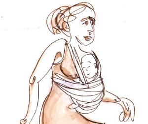Illustration de l'article Le portage des tout-petits