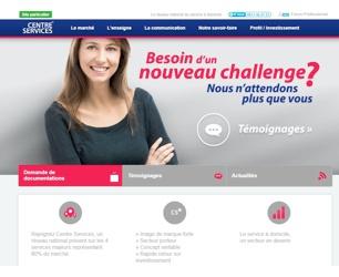 Illustration de l'article Centre Services lance son nouveau site internet