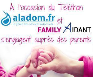 Illustration de l'article Pour le Téléthon aladom et Family Aidant proposent une solution pour les aidants