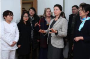 Illustration de l'article La ministre Agnès Buzyn visite une résidence médicalisée DomusVi en Chine