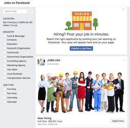 Illustration de l'article Facebook propose désormais des offres d'emploi