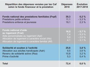 Illustration de l'article En 2018, les CAF ont versé 72,4 milliards
