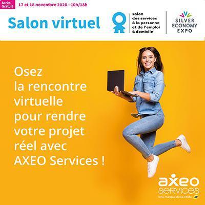 Illustration de l'article Axéo services sera présent au salon virtuel des services à la personne  et de l'emploi à domicile