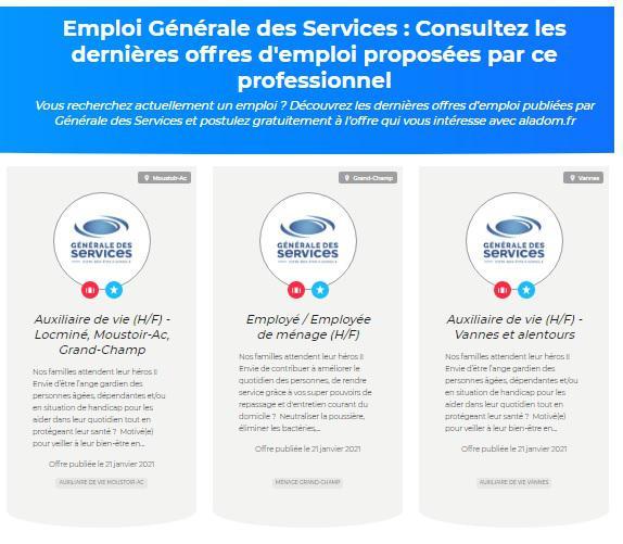 Illustration de l'article Générale des services gagne du temps en utilisant Aladom pour recruter