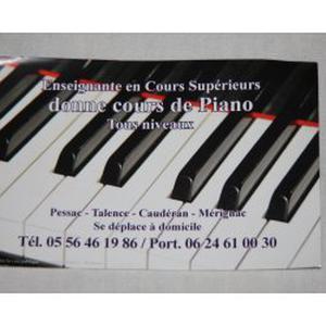 Enseignante donne cours de Piano à domicile