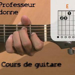Cours de guitare pour débutants à domicile à Paris