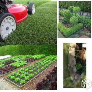 Jardinier en mayenne tonte, élagage, karcher
