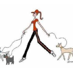 Promeneuse de chien