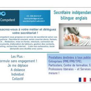 Secrétaire bilingue anglais indépendante, Nice/Antibes/Cannes/Monaco