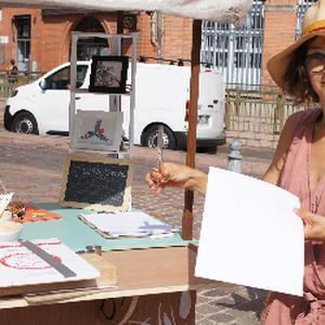 Auteur illustratrice, peintre et professeur d'art plastique, spécialisée dans la pratique de l'aquarelle