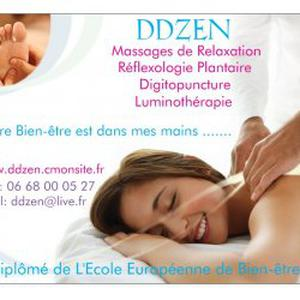 Massages à domicile ou en institut.
