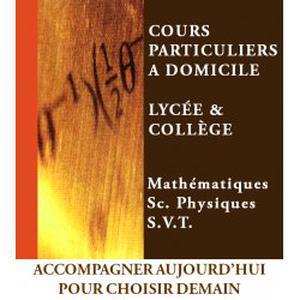 Professeur donne cours particuliers de Mathématiques - Sc. Physiques - S.V.T