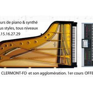 Cours de piano sur clermont-fd et son agglo
