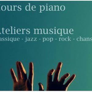Cours de piano, ateliers musique (compo, impro, MAO...)