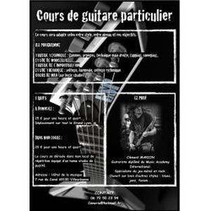Prof de guitare diplômé du MAI donne cours sur Lyon-Villeurbanne
