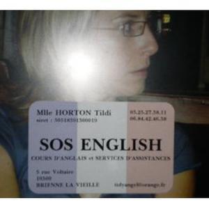 SOS ENGLISH - réussir en anglais! 50% réduction ou credit d'impot.