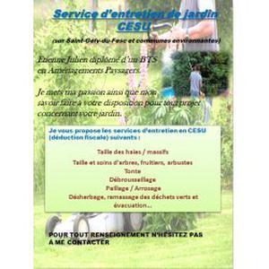 Prestation de jardinage en CESU secteur de Saint-Gély-du-Fesc